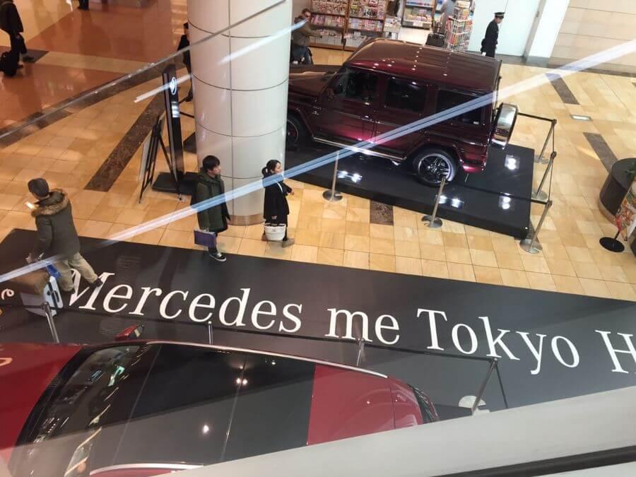高級車の展示